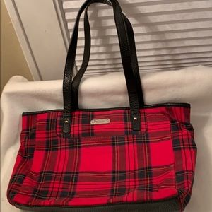 Chaps Handbag - great looking- bright red plaid